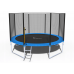 Батут FunFit 374 см - 12ft с внешней сеткой и лестницей+ПОДАРОК