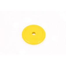Диск обрезиненный 1,5 кг Atlas Sport металлическая основа (посад. диаметр 26 мм)