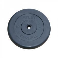 Диск обрезиненный 10 кг металлическая основа (посад. диаметр 26 мм)