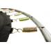 Батут Atlas Sport 140 см - 4.5ft с внешней сеткой (на пружинах) до 80 кг, В зеленом цвете.