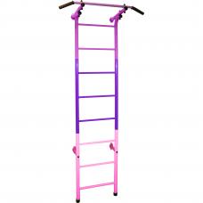 Шведская стенка (детский спортивный комплекс) 9 'Радуга' фиолетово-розового цвета