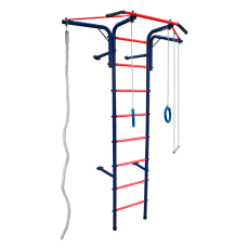 Шведская стенка 'Альпинистик' 'Самолет' ДСК (детский спортивный комплекс) Сине-Красный