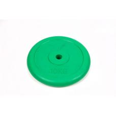 Диск обрезиненный 10 кг Atlas Sport металлическая основа (посад. диаметр 26 мм)