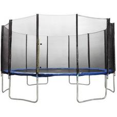 Батут Atlas Sport 490 см - 16ft Basic (6 ног) с внешней сеткой и лестницей+подарок