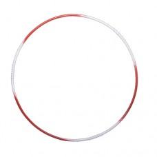 Обруч массажный №1 90 см Металл White/Red