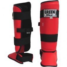 Защита голень-стопа Green Hill Battle SIB-0014 Red р-р L
