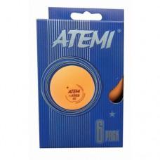 Мячи для настольного тенниса Atemi 1* (6шт) orange