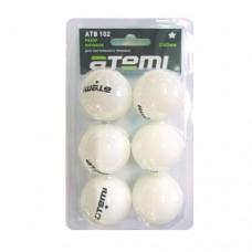 Мячи для настольного тенниса Atemi 1* ATB102 (6шт)
