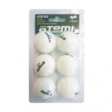 Мячи для настольного тенниса Atemi 2* ATB202 (6шт)