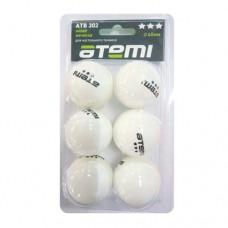 Мячи для настольного тенниса Atemi 3* ATB302 (6шт)
