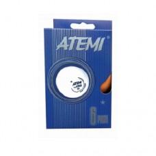 Мячи для настольного тенниса Atemi 1* (6шт) white