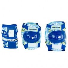 Комплект защиты для роликовых коньков Maxcity Teddy blue р-р L