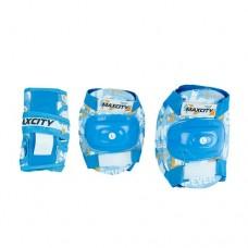Комплект защиты для роликовых коньков Maxcity Teddy Light Blue р-р L