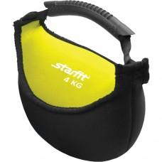 Гиря мягкая неопреновая Starfit DB-601 4 кг yellow