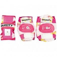 Комплект защиты для роликовых коньков Maxcity Teddy Pink р-р L