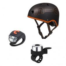 Защитный набор Micro Шлем Black/Orange AC2076 р-р S (48-53 см)