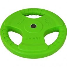 Диск обрезиненный Starfit BB-201 (10 кг) green