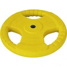 Диск обрезиненный Starfit BB-201 (15 кг) yellow