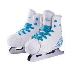 Коньки двухполозные Ice Blade Pixel white/blue р-р 28