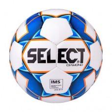 Мяч футбольный Select Diamond IMS №4 810015 White/Blue/Orange