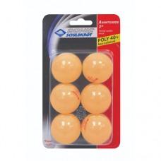 Мяч для настольного тенниса Donic Schildkrot Avantgarde 3* 6 шт orange
