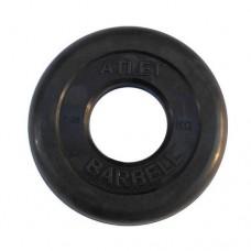 Диск для грифа MB Barbell Atlet обрезиненный 51мм 1,25кг Black