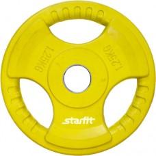 Диск обрезиненный Starfit BB-201 (1,25 кг) yellow