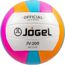 Мяч волейбольный Jogel JV-200 blue/orange/pink