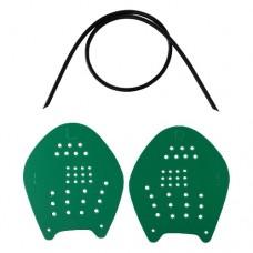 Лопатки для плавания LongSail Target green р-р M