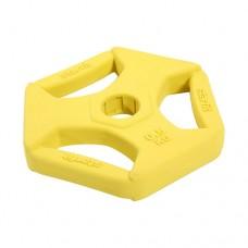 Диск обрезиненный с хватами Starfit BB-205 0,5 кг yellow