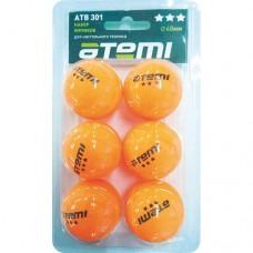 Мячи для настольного тенниса Atemi 3* ATB301 (6шт)