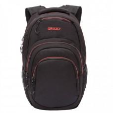 Городской рюкзак GRIZZLY RQ-003-3 /1 black/red