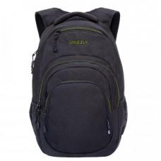 Городской рюкзак GRIZZLY RQ-003-3 /3 black/light green