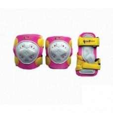 Комплект защиты для роликовых коньков Maxcity Game pink р-р L